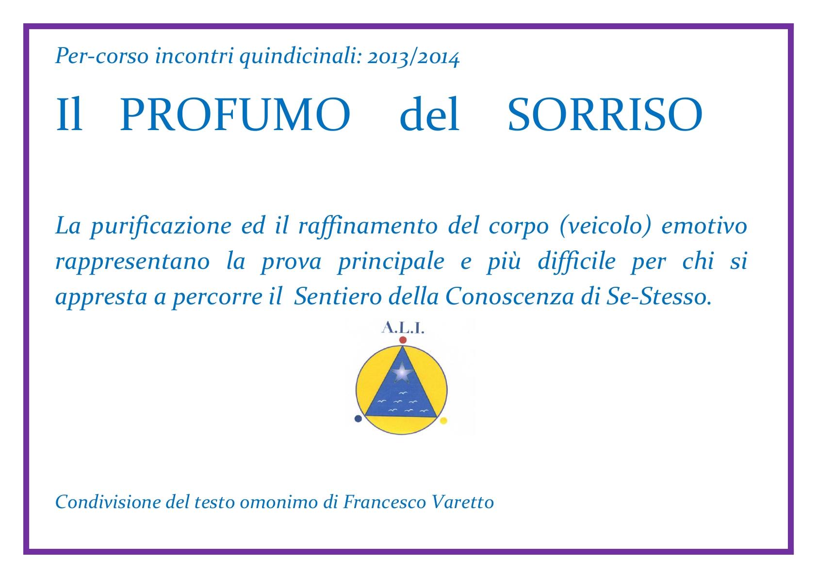 ALI   per-corso  - Il Profumo del Sorriso 2013 & 2014