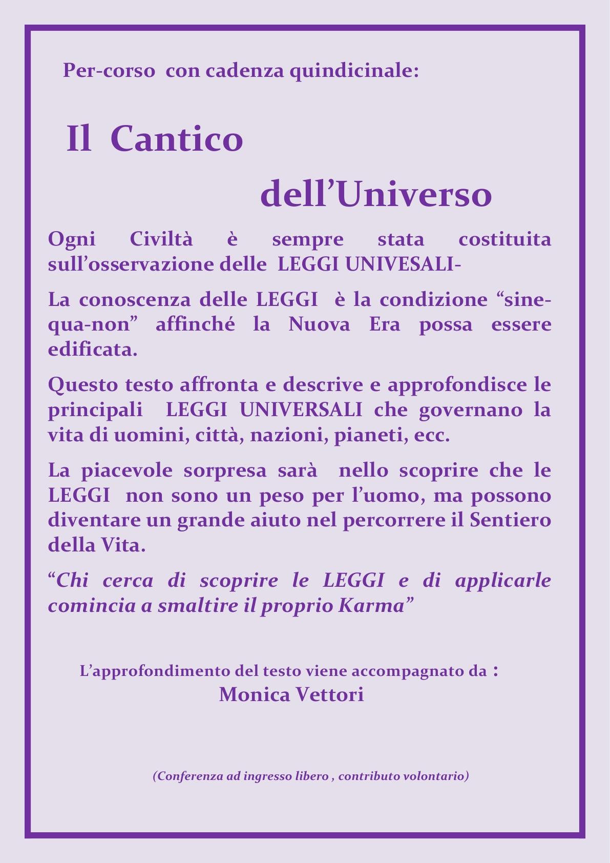 ALI  sitoweb_ Gruppi di Studio    Il Cantico Dell'Universo  rev  5sett2015