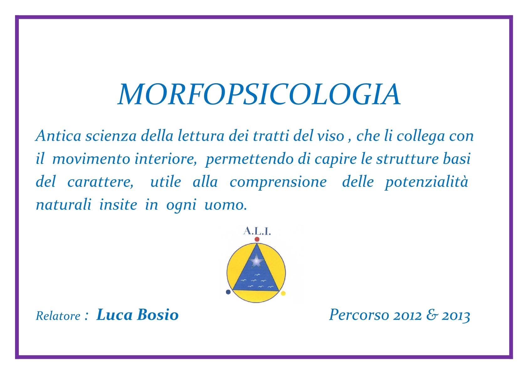 ALI  locandina    - MORFOPSICOLOGIA 2012  20131